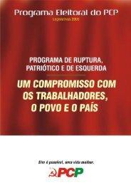 Programa eleitoral do PCP (PDF) - Público