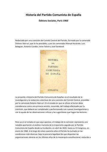 """Historia del Partido Comunista de España"", Versión abreviada"