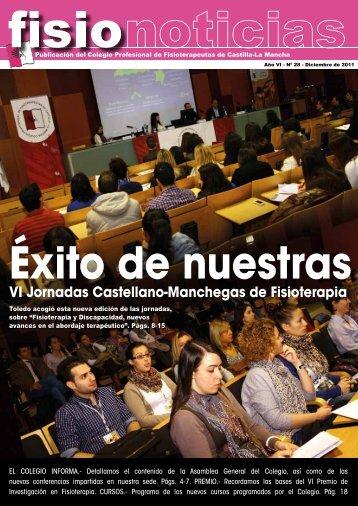 VI Jornadas Castellano-Manchegas de Fisioterapia - Colegio ...