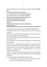 Señor Presidente de la Comisión Directiva del Hospital Alemán Dr ...
