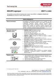 ADLER Legnopur 26211 a násl. - ADLER - Lacke
