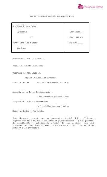 2010 TSPR 65 - Rama Judicial de Puerto Rico