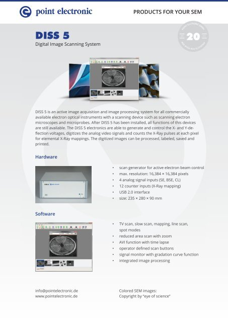 DISS 5 - Productsheet - point electronic GmbH