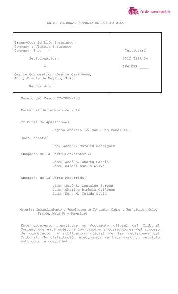 2012 TSPR 34 - Rama Judicial de Puerto Rico