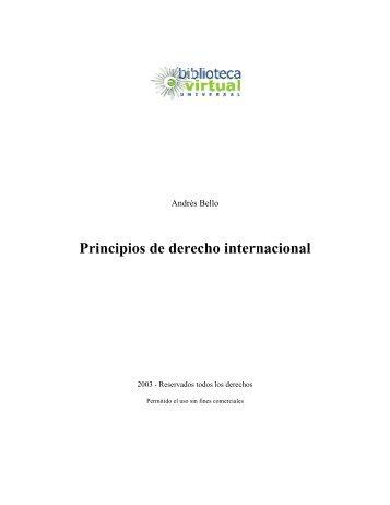 Principios de derecho internacional - Biblioteca Virtual Universal