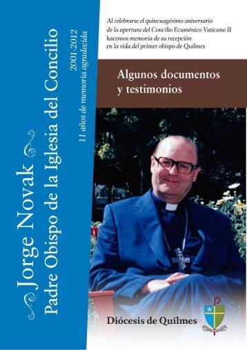 una publicación con documentos de Mons. Novak - Diócesis de ...