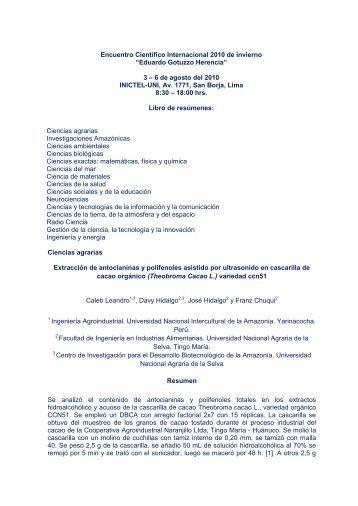 Libro de resúmenes - Encuentro Científico Internacional