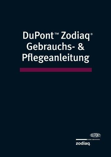 DuPont™ Zodiaq® Gebrauchs- & Pflegeanleitung