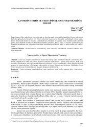 kanserin teşhis ve tedavisinde nanoteknolojinin önemi - Uludağ ...