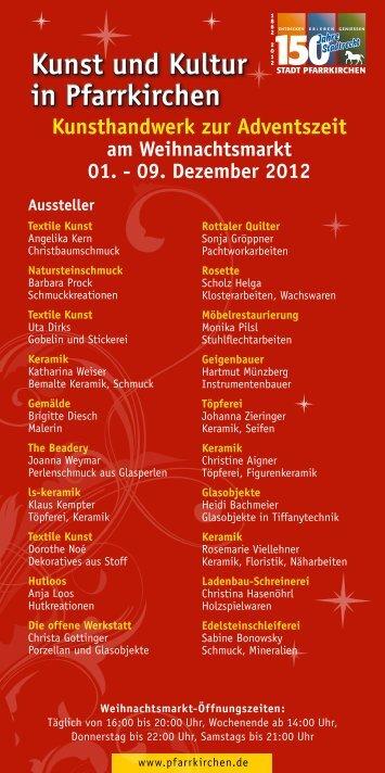 Kunst und Kultur in Pfarrkirchen Kunst und Kultur in Pfarrkirchen