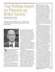 Ang Walang-kupas na Pamana ng Relief Society