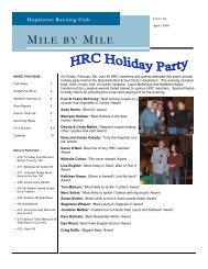 April 2010 Newsletter - the Hopkinton Running Club