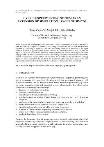 hybrid experimenting system as an extension of simulation ...