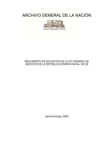Decreto 481-08 Reglamento de Aplicación de la - Archivo General ...