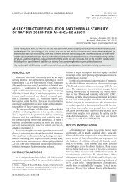 MICROSTRUCTURE EVOLUTION AND THERMAL STABILITY OF ...