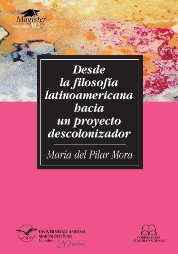 SM112-Mora-Desde la filosofia.pdf - Repositorio UASB-Digital ...