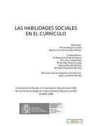 las habilidades sociales en el currículo - Ministerio de Educación ...