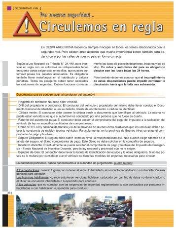 Documentos que se pueden exigir al conductor ... - CESVI Argentina