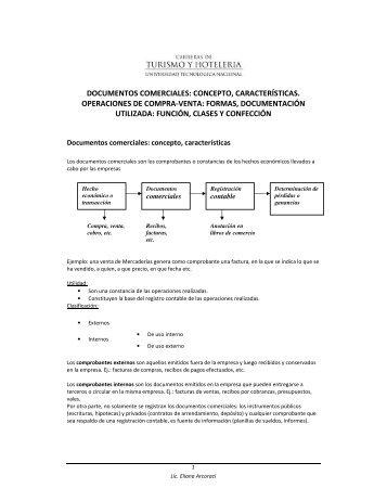 DOCUMENTOS COMERCIALES: CONCEPTO, CARACTERÍSTICAS ...