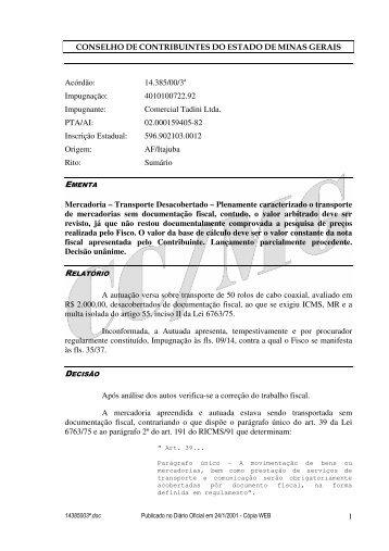 Microsoft Word - 14385003\252.doc - Secretaria de Estado de ...
