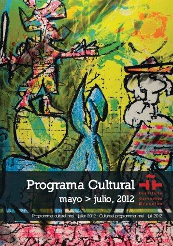 Programa Cultural - Instituto Cervantes de Bruselas