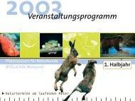 Veranstaltungsprogramm 1. Halbjahr 2003 - Pfalzmuseum für ...