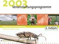 Veranstaltungsprogramm 2. Halbjahr 2003 - Pfalzmuseum für ...