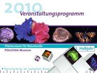 Veranstaltungskalender 1. Halbjahr 2010 - Pfalzmuseum für ...