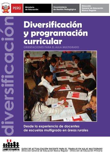 Diversif icación y programación curricular - Educación Básica ...
