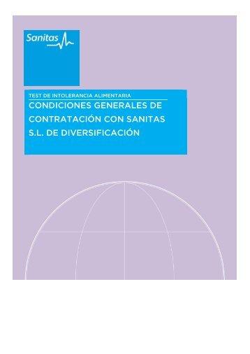 Condiciones generales de contratación - Sanitas