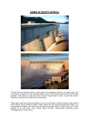 DAMS IN SOUTH AFRICA