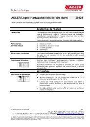 ADLER Legno-Hartwachsöl (huile-cire dure) 50821 - ADLER - Lacke