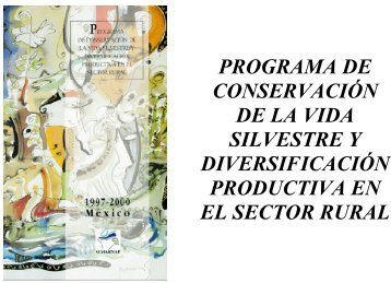 programa de conservación de la vida silvestre y diversificación ...