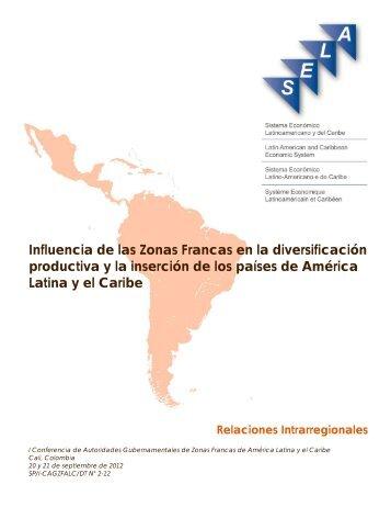 Influencia de las Zonas Francas en la diversificación ... - Sela