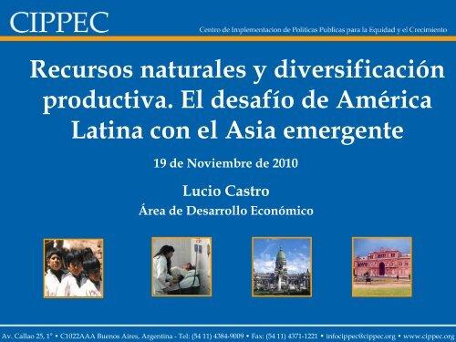 Recursos naturales y diversificación productiva. El desafío de ...
