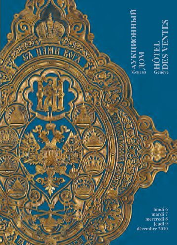 Télécharger le catalogue au format PDF - Hôtel des Ventes Genève