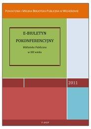 E-biuletyn pokonferencyjny - Powiatowa i Miejska Biblioteka ...