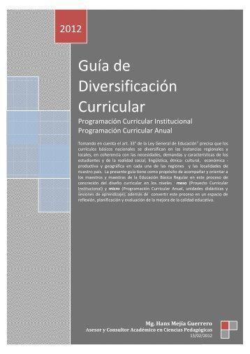 Guía de Diversificación Curricular 2012 - Ugel 06