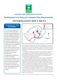 INFORMATION DOCUMENT - DWA Home Page