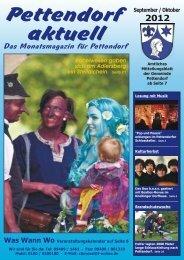 Das Monatsmagazin für Pettendorf - Markt Lappersdorf