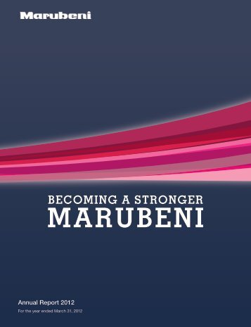 Annual Report 2012 - Marubeni