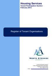 Register of Tenant Organisations - North Ayrshire Council