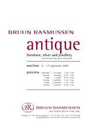 furniture, silver and jewellery - Bruun Rasmussen