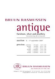 furniture, silver and jewellery - Bruun Rasmussen