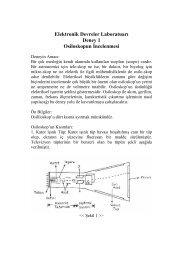 Elektronik Devreler Laboratuarı Deney 1 Osiloskopun İncelenmesi