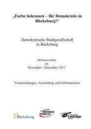 Farbe bekennen – für Demokratie in Bückeburg!