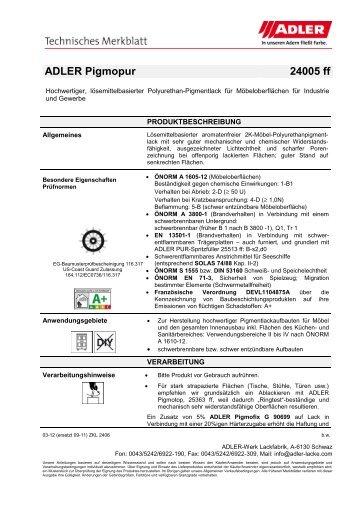 ADLER Pigmopur 24005 ff - ADLER - Lacke