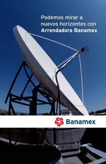 Podemos mirar a nuevos horizontes con Arrendadora Banamex