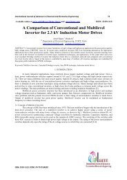 A Comparison of Conventional and Multilevel Inverter for 2.3 kV ...