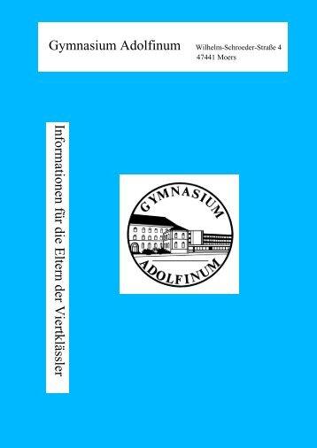 2. Die Erprobungsstufe (5. und 6. Klasse) - Adolfinum